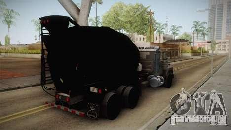 Mack RD690 Cement Mixer Truck 1992 для GTA San Andreas вид сзади слева