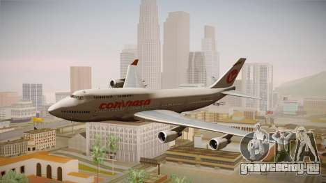 Boeing 747-400 Conviasa для GTA San Andreas вид сзади слева