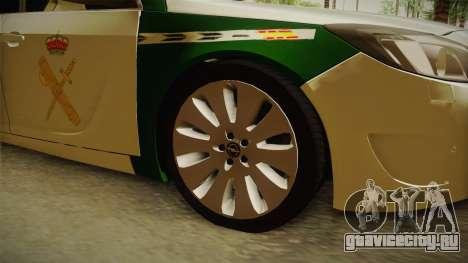 Opel Insignia Guardia Civil Tráfico для GTA San Andreas вид сзади