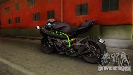 Kawasaki H2 2015 x Z1000 x Diavel для GTA San Andreas вид слева
