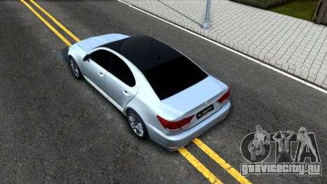 Lexus LS XF40 для GTA San Andreas вид сзади