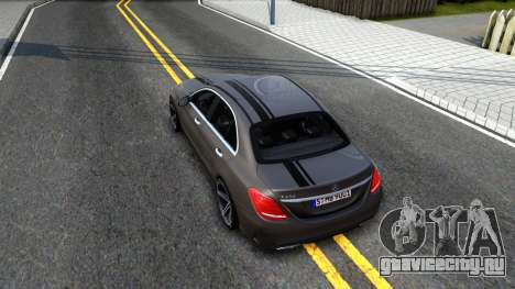 Mercedes-Benz C250 AMG Edition для GTA San Andreas вид сзади