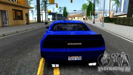 Dodge Challenger SRT8 Liberty Walk для GTA San Andreas вид сзади слева