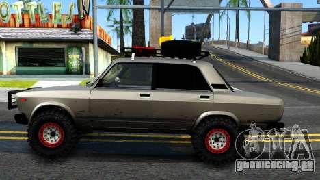 ВАЗ 2107 4X4 для GTA San Andreas вид слева
