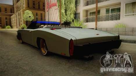 New Buccaneer для GTA San Andreas вид сзади слева