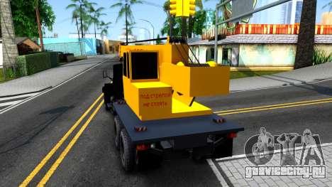 КрАЗ-257 Автокран для GTA San Andreas вид сзади слева