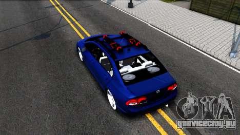 Honda Civic для GTA San Andreas вид сзади
