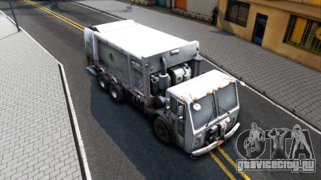 ORC Garbage Truck для GTA San Andreas вид справа