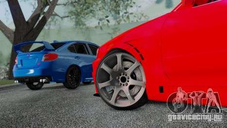Subaru WRX STi 2017 для GTA San Andreas вид справа