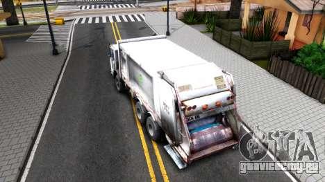 ORC Garbage Truck для GTA San Andreas вид сзади