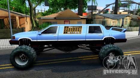 Stretch Monster Truck для GTA San Andreas вид слева