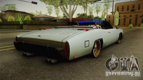 New Buccaneer для GTA San Andreas вид слева