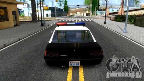 Vincent Cop для GTA San Andreas вид сзади слева