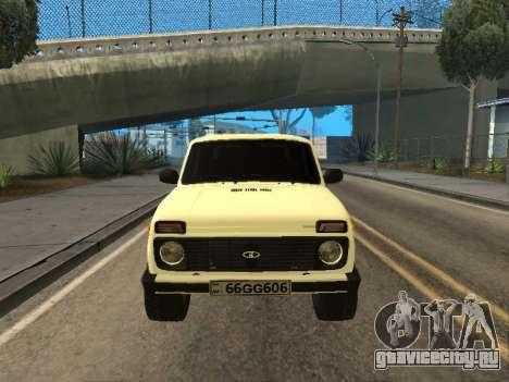 Vaz 2121 Niva Armenian для GTA San Andreas вид сзади