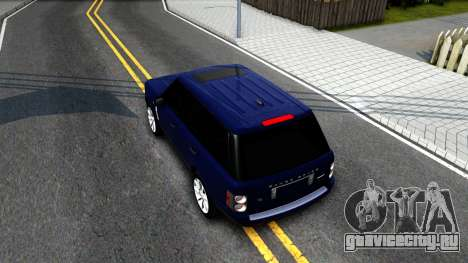 Land Rover Range Rover Supercharged для GTA San Andreas вид сзади