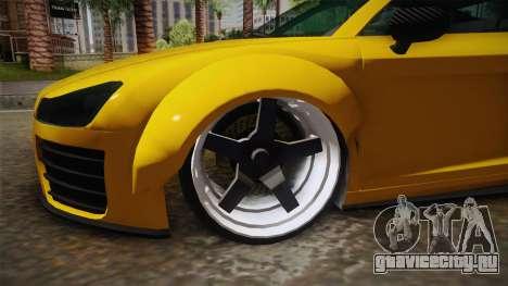 Obey 9F Custom для GTA San Andreas вид сзади
