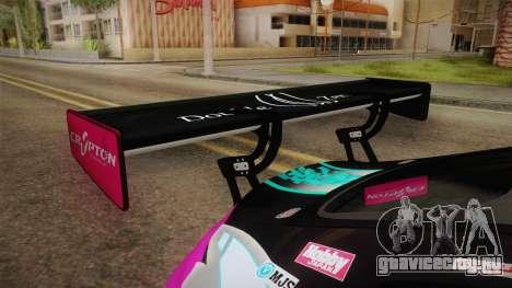 Mercedes-Benz AMG GT3 Goodsmile Racing 2017 для GTA San Andreas вид сбоку