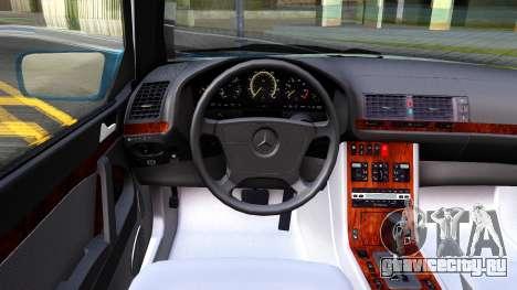 Mercedes-Benz W210 E320 1997 для GTA San Andreas вид изнутри
