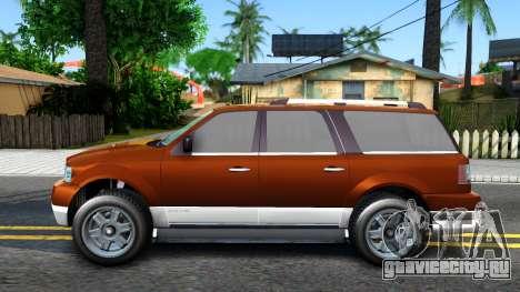 Dundreary Landstal GTA IV для GTA San Andreas вид слева