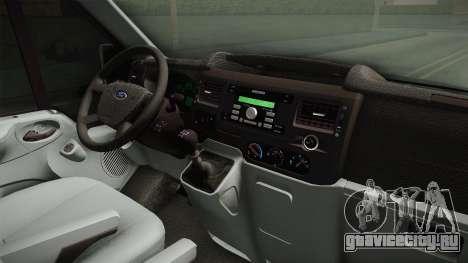 Ford Transit Полиција для GTA San Andreas вид изнутри