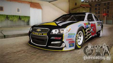 Chevrolet SS Nascar 31 Caterpillar 2017 для GTA San Andreas