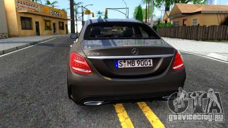 Mercedes-Benz C250 AMG Edition для GTA San Andreas вид сзади слева