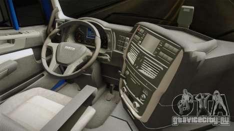 Iveco Stralis Hi-Way 560 E6 4x2 v3.2 для GTA San Andreas вид изнутри