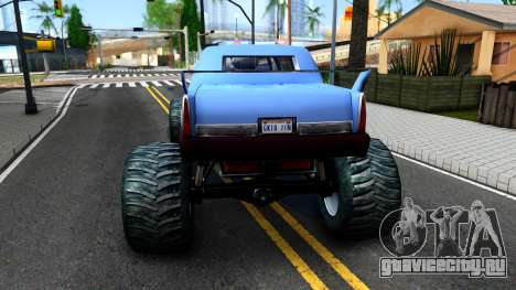 Stretch Monster Truck для GTA San Andreas вид сзади слева