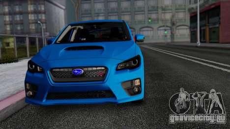 Subaru WRX STi 2017 для GTA San Andreas вид изнутри