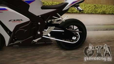 Honda CBR1000RR HRC 2012 для GTA San Andreas вид изнутри