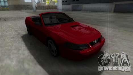 1999 Ford Mustang Cabrio для GTA San Andreas вид сзади
