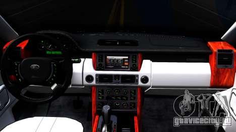 Land Rover Range Rover Supercharged для GTA San Andreas вид изнутри