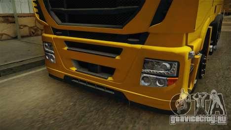 Iveco Stralis Hi-Way 560 E6 6x2 v3.0 для GTA San Andreas вид сбоку