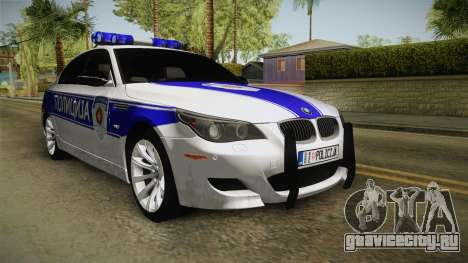 BMW M5 E60 Полиција для GTA San Andreas вид справа