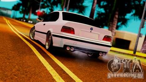 BMW M3 E36 ZLO для GTA San Andreas вид сзади слева