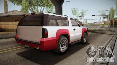 GTA 5 Declasse Granger 2-doors IVF для GTA San Andreas вид слева