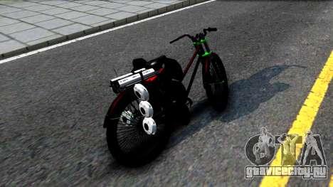 Bici для GTA San Andreas вид сзади слева