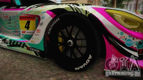 Mercedes-Benz AMG GT3 Goodsmile Racing 2017 для GTA San Andreas вид сзади