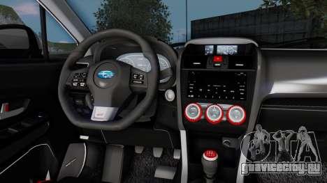 Subaru WRX STi 2017 для GTA San Andreas салон