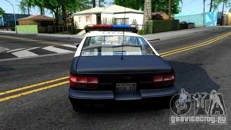 Chevrolet Caprice Police для GTA San Andreas вид сзади слева