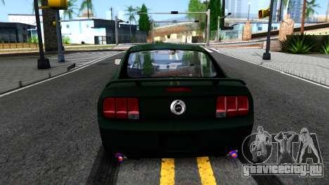 Ford Mustang GT 2009 для GTA San Andreas вид сзади слева