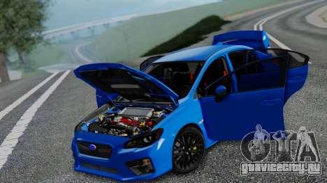 Subaru WRX STi 2017 для GTA San Andreas вид сбоку