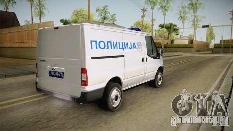 Ford Transit Полиција для GTA San Andreas вид слева
