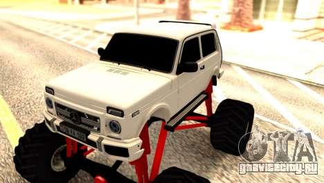 Vaz 2121 Monster Armenian для GTA San Andreas вид изнутри