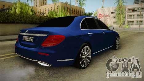 Mercedes-Benz E530 Serbian Mafia для GTA San Andreas вид сзади слева