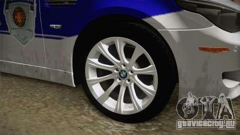 BMW M5 E60 Полиција для GTA San Andreas вид сзади