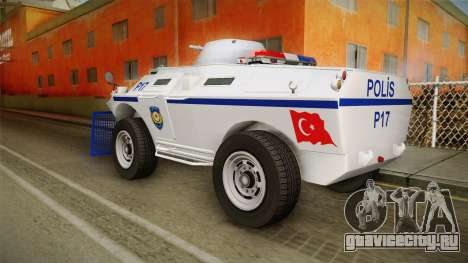 Turkish Police APC with Water Cannon для GTA San Andreas вид слева