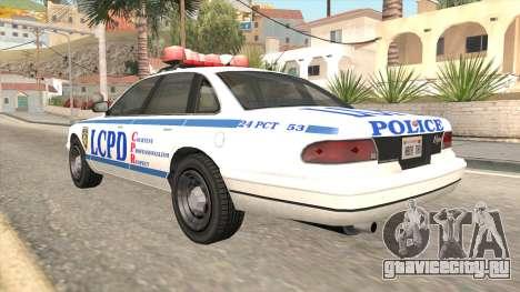 GTA 4 Police Stanier для GTA San Andreas вид слева