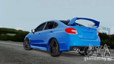 Subaru WRX STi 2017 для GTA San Andreas вид слева