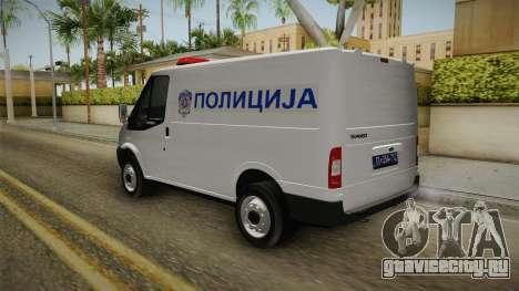 Ford Transit Полиција для GTA San Andreas вид сзади слева